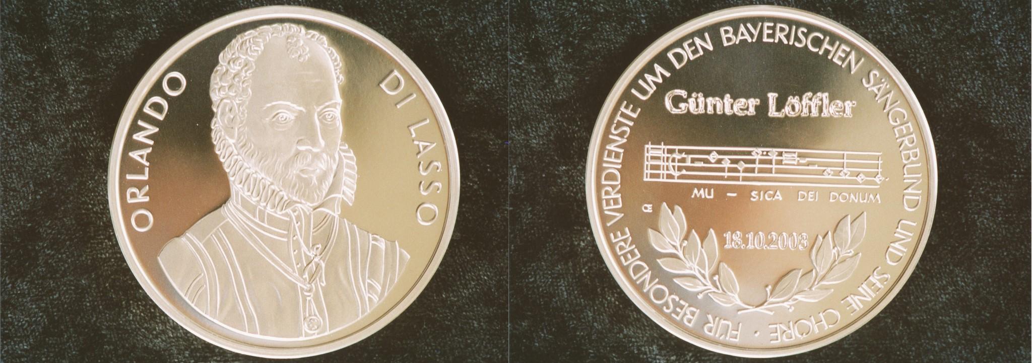 Orlando di Lasso Medaille für Günter Löffler (Foto: Hansjörg Buchberger)